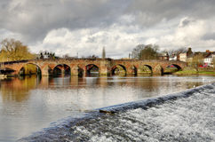 在河Nith的Devorgilla桥梁在邓弗里斯 图库摄影