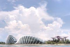 由海湾的庭院,新加坡 库存照片