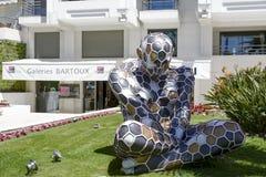 跨Mutazione,雕塑,博览会在戛纳 免版税库存图片