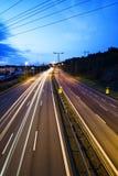 路、光和天空 免版税库存图片