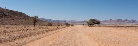 路到沙漠里 免版税库存照片