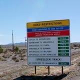 路制约在澳洲内地 免版税图库摄影