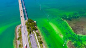 路向在海和海岛,佛罗里达钥匙,美国的基韦斯特岛 库存图片