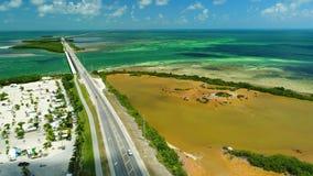 路向在海和海岛,佛罗里达钥匙,美国的基韦斯特岛 股票视频