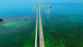 路向在海和海岛,佛罗里达钥匙,美国的基韦斯特岛 影视素材