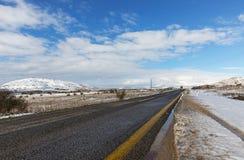 路和雪 免版税图库摄影