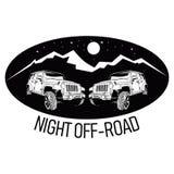 路商标的夜 免版税库存图片