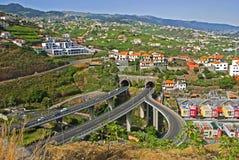 路在丰沙尔,马德拉岛海岛,葡萄牙 图库摄影