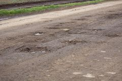 路在傲德萨地区,乌克兰, Primorskoye村庄 库存图片