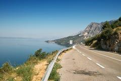 路在克罗地亚 免版税库存照片