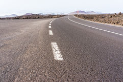路在兰萨罗特岛 图库摄影