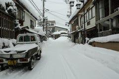 路在冬天 库存图片
