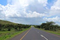 路在坦桑尼亚 免版税库存照片