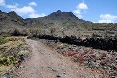 路在沙漠 免版税图库摄影