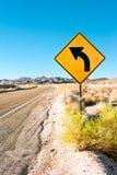 路在沙漠 图库摄影