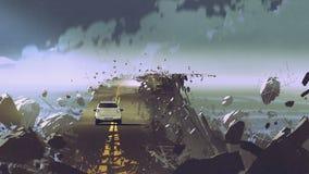 路在没有重力的地方 图库摄影