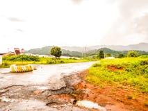 路在热带非洲 免版税库存图片