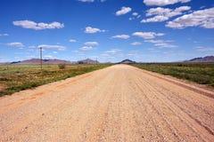 路在纳米比亚,非洲 免版税库存照片