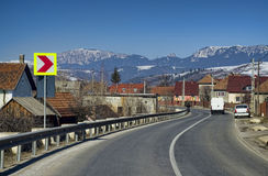 路在罗马尼亚 库存图片