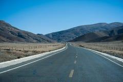 路在西藏,中国 库存照片