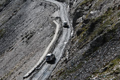 路在西藏 免版税库存图片
