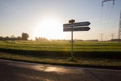 路在诺曼底 免版税图库摄影