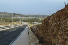 路在马耳他A 免版税库存照片