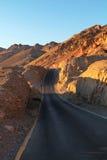 路在死亡谷 库存照片