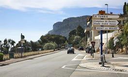 路在Canton de Beausoleil 法国 免版税库存图片