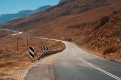 路在Judean沙漠 免版税库存照片