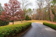 路在Lullwater公园,亚特兰大,美国 图库摄影