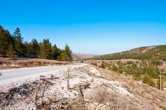 路在Zlatibor 免版税库存照片
