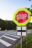 路安全符号终止业务量 免版税库存图片