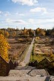 路径在秋天 免版税库存图片