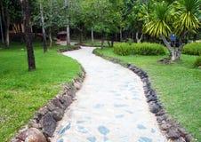 路径穿过一个绿色庭院 图库摄影