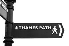 路径符号泰晤士 免版税库存照片
