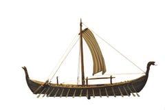 路径船北欧海盗 库存照片