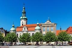 路德教会和城镇厅 免版税库存照片