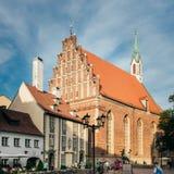 路德教会圣约翰的教会,里加,拉脱维亚 免版税库存图片