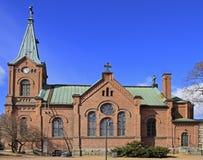 路德教会的大教堂在于韦斯屈莱,芬兰 库存照片