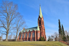 路德教会的大教堂在米凯利,芬兰 免版税库存图片