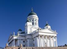 路德教会的大教堂在赫尔辛基,芬兰 图库摄影