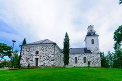 路德教会的大教堂,在库奥皮奥 库存照片