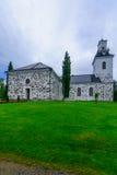 路德教会的大教堂,在库奥皮奥 免版税库存图片