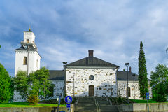 路德教会的大教堂,在库奥皮奥 免版税库存照片