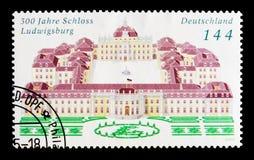路德维希堡城堡, 300th周年, serie,大约2004年 库存图片