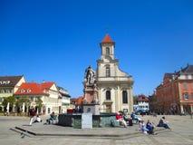路德维希堡大广场在德国 图库摄影