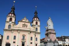 路德维希堡的中世纪老镇 免版税库存图片