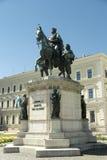 路德维希我巴伐利亚纪念碑的国王在慕尼黑 免版税库存照片