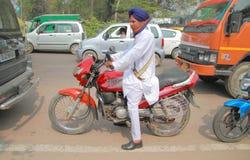路情况在德里某一恶劣的区  图库摄影